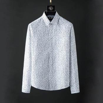 DUYOU Men Flower Casual Shirt Men Brand Clothing Long Sleeve Shirt Male Top Quality Pure Cotton Plus Size DY2129