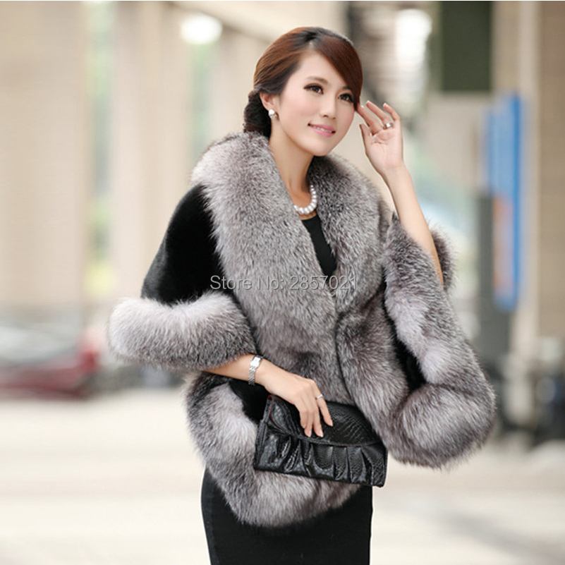 2018 Black White Burgundy Winter Casual Occasion Wrap Bridal Wrap&Jackets Cloak Daily Wear Winter Warm Faux Fur Wedding Coat New