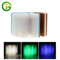 Creative Night Light Book Shape Foldable Pages USB Rechargeable Led Booklight Novelty Lighting Lamp