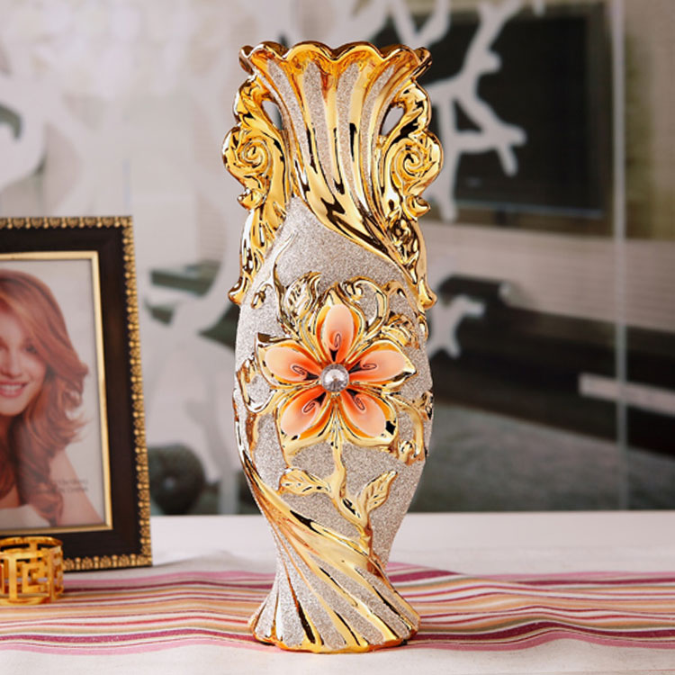 European Style Flower Holder Modern Fashion Ceramic Flower Vase Decorative Vases Exquisite