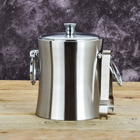 Buckets Coolers Holders Thick Double Wall Stainless Steel Ice Bucket With Red Wine Bar Insulation Cold