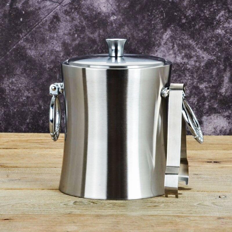 Seaux refroidisseurs supports épais Double paroi en acier inoxydable seau à glace avec barre de vin rouge isolation froid Champagne barils Barware
