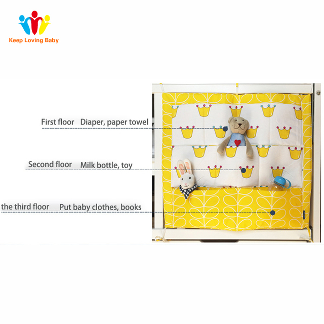 Baby Bedding Multi-functional Bumpers Safe Sleeping Clothes Stuffs Organizer for Diapers Toys Soft Cot Bed Hanging Storage Bag
