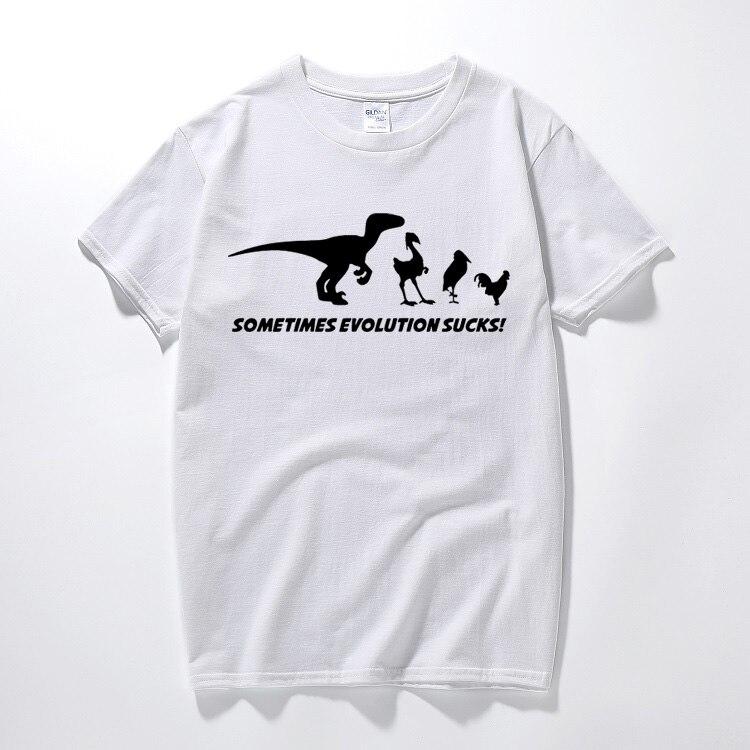 A evolução É Uma Merda camiseta t shirt Engraçado da Teoria de Darwin retro  pássaros em quadrinhos do Dinossauro Verão top camiseta de Algodão  Ocasional ... 3cb309147e9