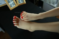 Latest Silicon Gymnast Girl Ballerina Dancer Feet Fetish Toes Pointing Foot Model Toy Doll Silicone Fake Foot