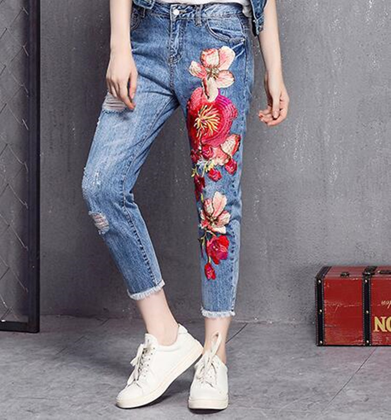 Image 4 - China National embroidery large cloth posted auspicious Flower clothes patch decals DIY velvet dress decoration accessories-in Patches from Home & Garden on AliExpress