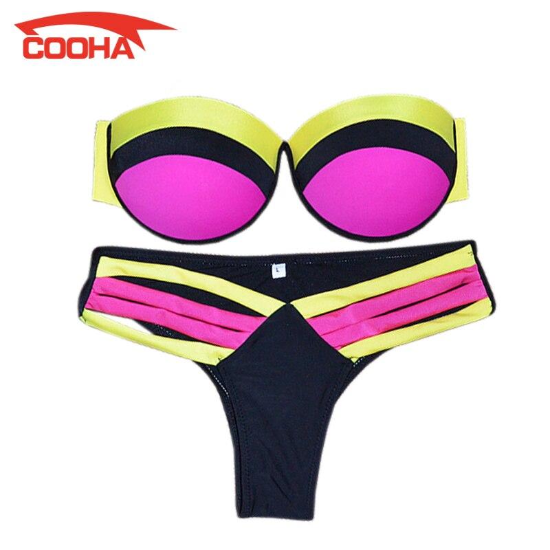 2016 Women Girls Low Waist Push Up Bikini Set Micro Sexy Bottom Bandage Swimwear Brazilian Maillot