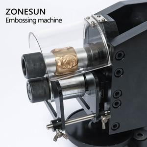 Image 3 - Zonesun 가죽 스탬핑 기계 콜드 프레스 기계 엠보싱 반복 패턴 가죽 벨트 기타 스트랩 로고 embosser