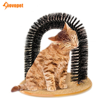 VOVOPET Pet Cat Massage Grooming comb Scratching arch-shape pets cat self groomer brush Dog hair removal  tool
