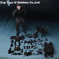 С dogM013 1/6 весы полный набор 12 ''темно Спецназ США Спецназ ВМС команда B HALO фигурку полный набор куклы для коллекции