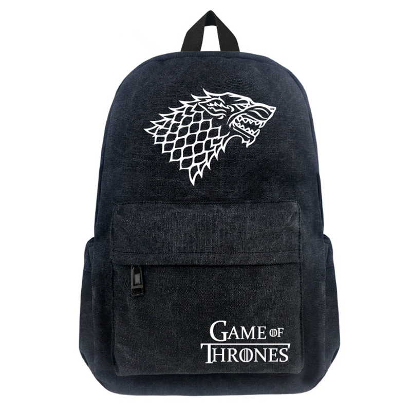 FVIP Game of Thrones Stark Backpack Men Women Canvas Backpacks Teenagers Boys Girls School Bags fashion game of throne backpack for teenagers women backpack laptop mochila crowns girls boys school bags travel daily backpacks