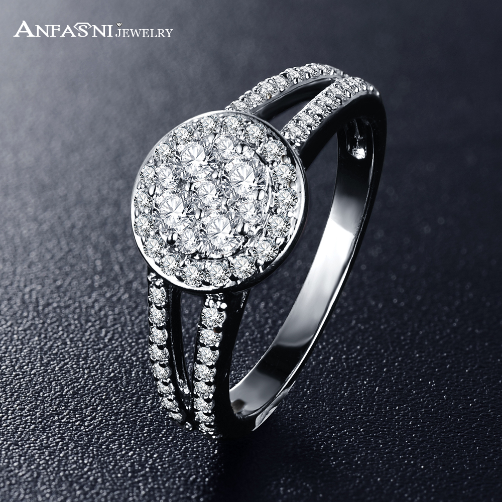 anfasni 2017 top selling fashion wedding rings silver color aaa zirconia ring luxury jewelry for ladies - Selling Wedding Ring