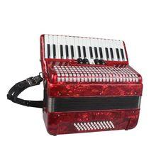 Одна пара кожи типа «гармошка» плечевой ремень Регулируемый ремень для аккордеона для 16/60/96/120 бас типа «гармошка» Универсальный
