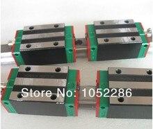 2 шт. 100% оригинал Hiwin железнодорожных HGR20-1100MM с 4 шт. HGH20CA узкие блоки для чпу