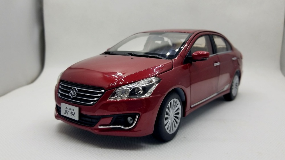 1:18 Diecast Model for Suzuki Alivio Ciaz Red Sedan Alloy Toy Car Miniature Collection Gifts moto model 1 6 suzuki suzuki gsx1100a katana 16025 model buiding kits