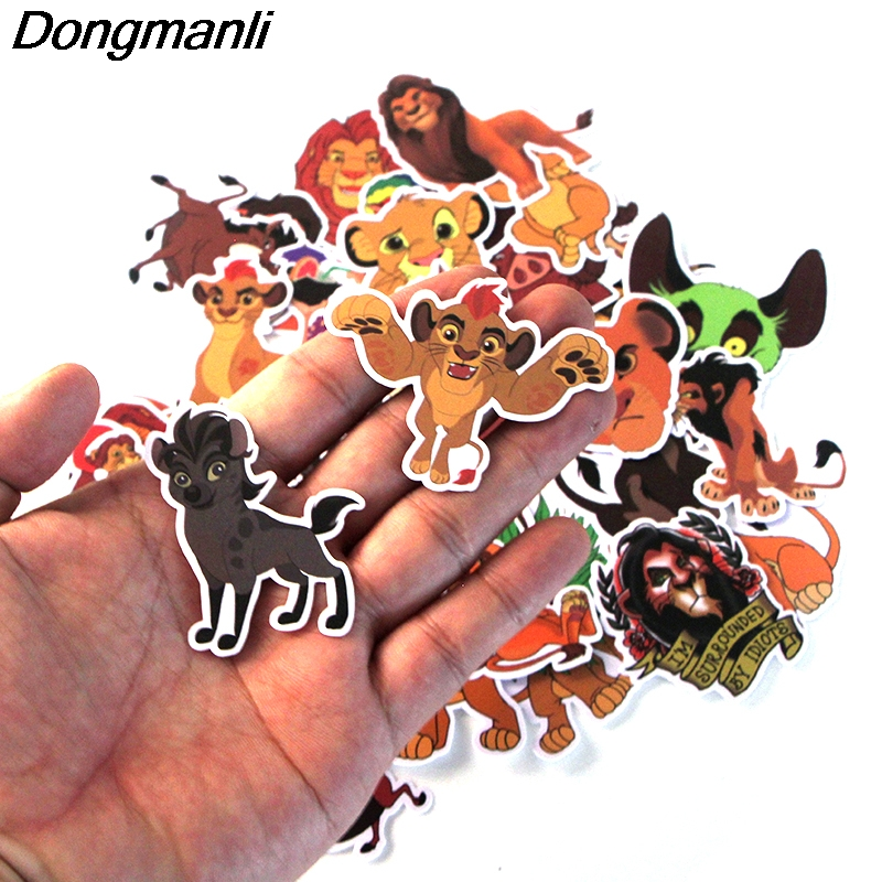 P3613 40 Pcs set The Lion King DIY Skateboard Graffiti Laptop Badge Motorcycle Luggage Bags Accessories in Chain Necklaces from Jewelry Accessories