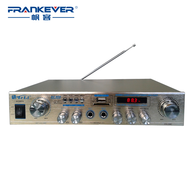 2017 High Quality New USB TF FM Digital Stereo Car Audio Power Sound Plate font b