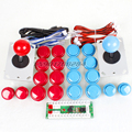 New 2 Player USB Encoder To PC Games Controls 2 Joystick + 20x Pusb Buttons For Arcade Mame KOF DIY Kits Parts