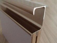 4Pcs/Lot (43CM Long/Piece) Aluminum Profile G Pull Built-in Integral Handle For Cupboard Cabinet Door