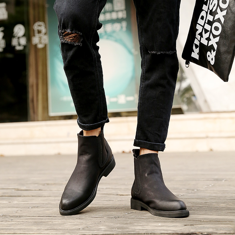 6dee56eaabe Aliexpress.com   Buy VIVODSICCO Autumn Winter Warm Fur Ankle Chelsea Boots  Men Shoes Male Business Casual Genuine Leather Quality Slip On Boot Man  from ...