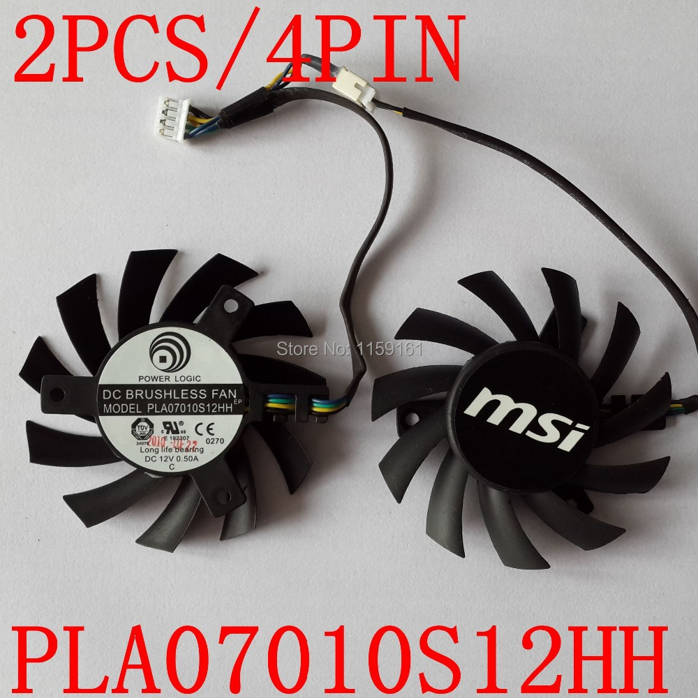 Transport gratuit 2pcs / lot MSI R5770 6770 N450GTS Ventilatoare pentru card grafic HAWK PLA07010S12HH 65mm 12V 0.5A