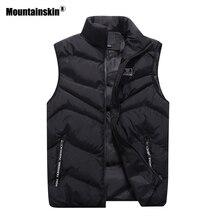 Mountainskin 4XL 2018 Новые повседневные жилеты Для мужчин куртка без рукавов Осень жилет зимнее пальто мужские жилеты Для мужчин s брендовая одежда SA467
