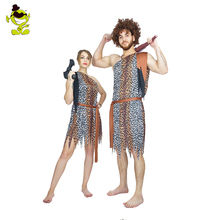 Men And Women's Jungle Caveman Costume Wildman Cosplay Carnival Costumes Stone Age Stag Cosplay  Party outfits