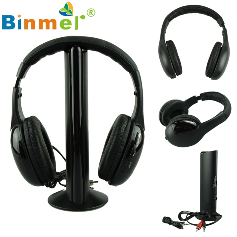bilder für Schöne Geschenk Neue 5IN1 Wireless Kopfhörer Casque Audio Sans Fil Écouteur Hallo-fi Radio FM TV MP3 MP4 Großhandel preis Aug19