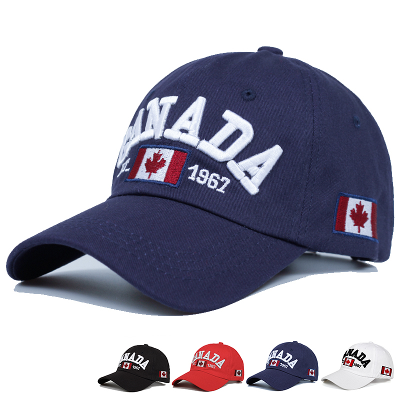 2019 Cotton Gorras Canada Baseball Cap Flag Of Canada Hat Snapback Adjustable Mens Baseball Caps Brand Snapback Hat