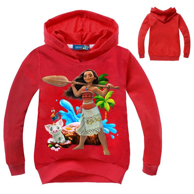 Newest Sale Children Clothing Girls moana Hoodies Sweater Cotton Cartoon Print Boys Clothes kids Tops Sweater Baby Sweatshirt