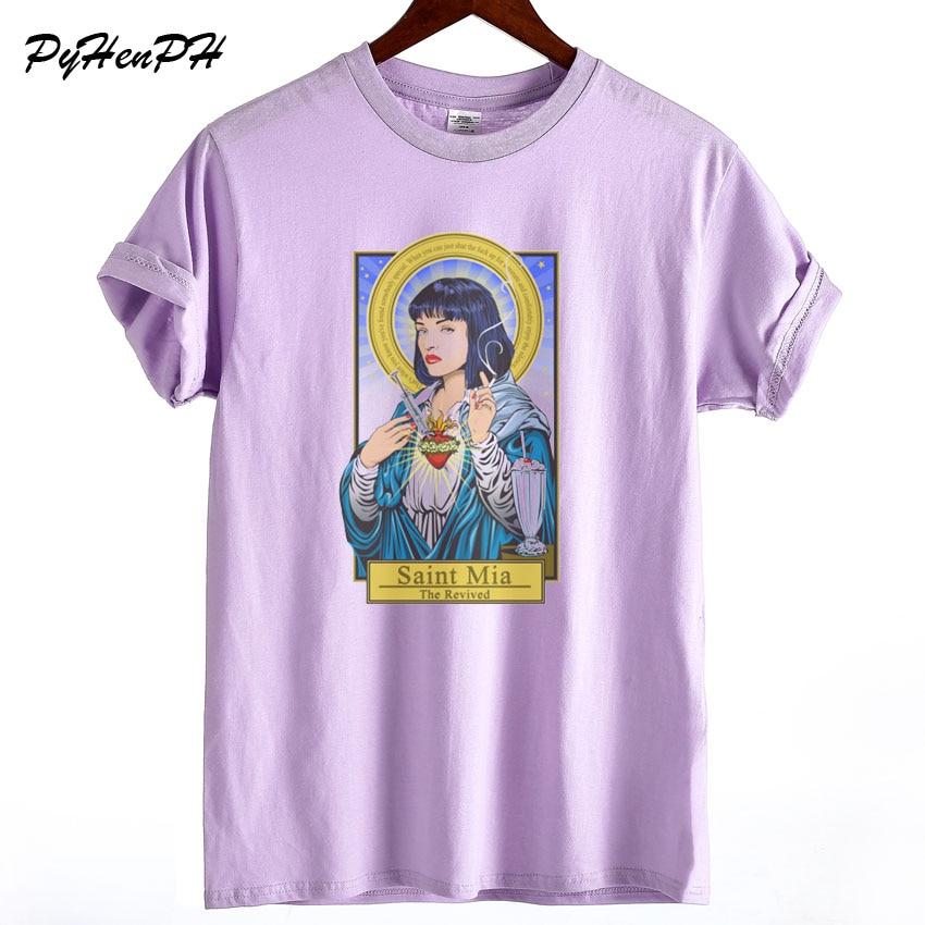 Pulp Fiction Tshirt 2018 New Women's Summer O-neck   T     shirt   Quality Cotton   T  -  shirt   Female Harajuku Woman Tees   Shirt   Short Sleeve