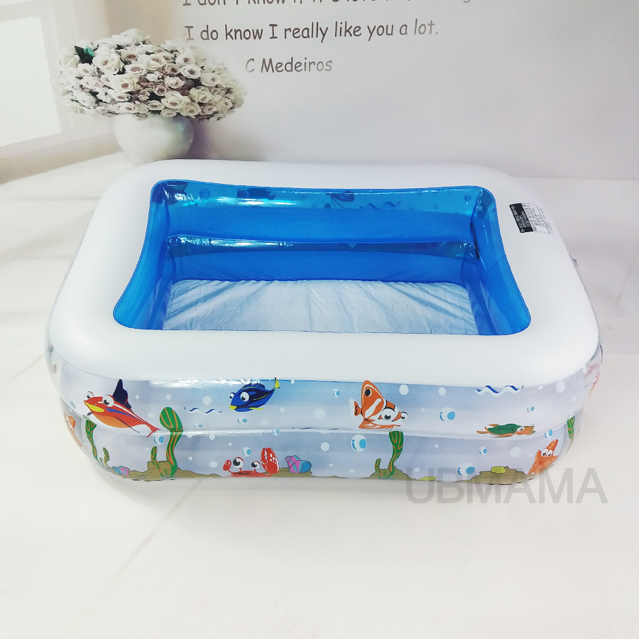 Kid Baby's Bathtub Baby Swimming Pool Cartoon Underwater World Pattern Printed Inflatable Aerated Square Newborn's Swimming Pool angle grinder parts 100 type resin grinding wheel piece metal sheet page 5