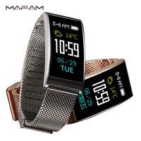 MAFAM X3 Metal Smart Watch Women Men Fitness Sleep Tracker Pedometer Blood Pressure Heart Rate Waterproof Smart Bracelet Watch