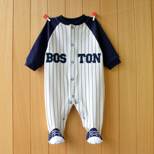 Baby clothes Girl Footies Sleepwear Button Front Cotton One-Piece Clothes 3-12 Months