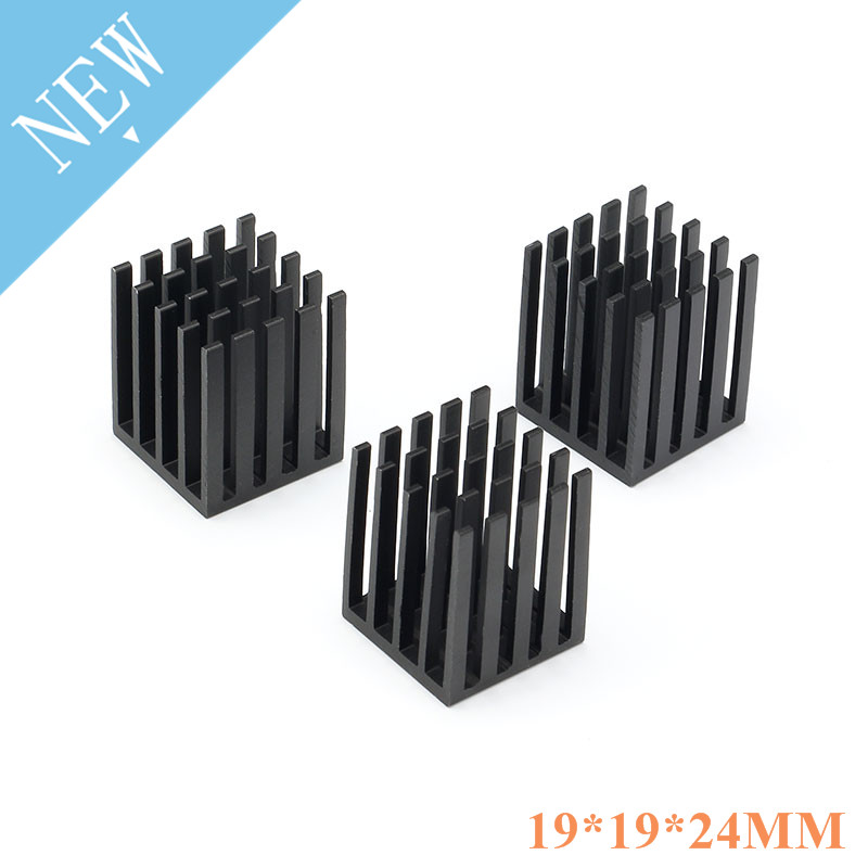 5 Pcs 19*19*24mm Aluminum Heatsink Heat Sink Radiator Cooling Cooler For Electronic Chip IC LED Computer 19x19x24mm