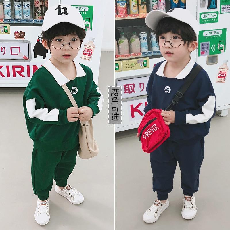 אביב ילדים צעירים של אופנה חליפת Chaofan ילד מוצק צבע דשי חליפת ילדים בגדי ילדי בגדי בני אופנה
