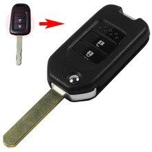Складные Ключа Автомобиля Флип Ключевых Оболочки 2 Кнопки Дистанционного Ключа крышка Смарт-Ключ Чехол для Honda CRV Нового Соглашения с логотип