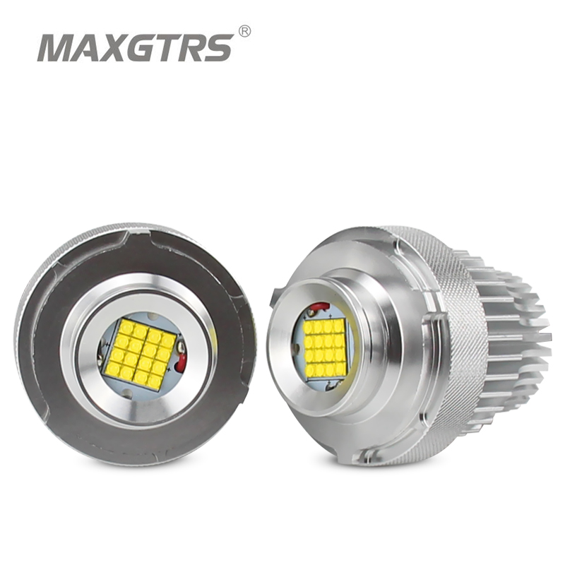 2x High Power 80W LED Marker Angel Eye Halo Ring Bulb For BMW E60 E61 LCI 2007 2010 Year LED Trim White Canbus Error Free
