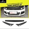 Scirocco R carbon fiber front bumper lip spoiler car-styling for VW Scirocco R bumper 2009-2015