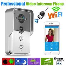 Teléfono móvil WiFi cámara del timbre inalámbrico inteligente Video de la puerta sistema de intercomunicación IP teléfonos móviles de la puerta