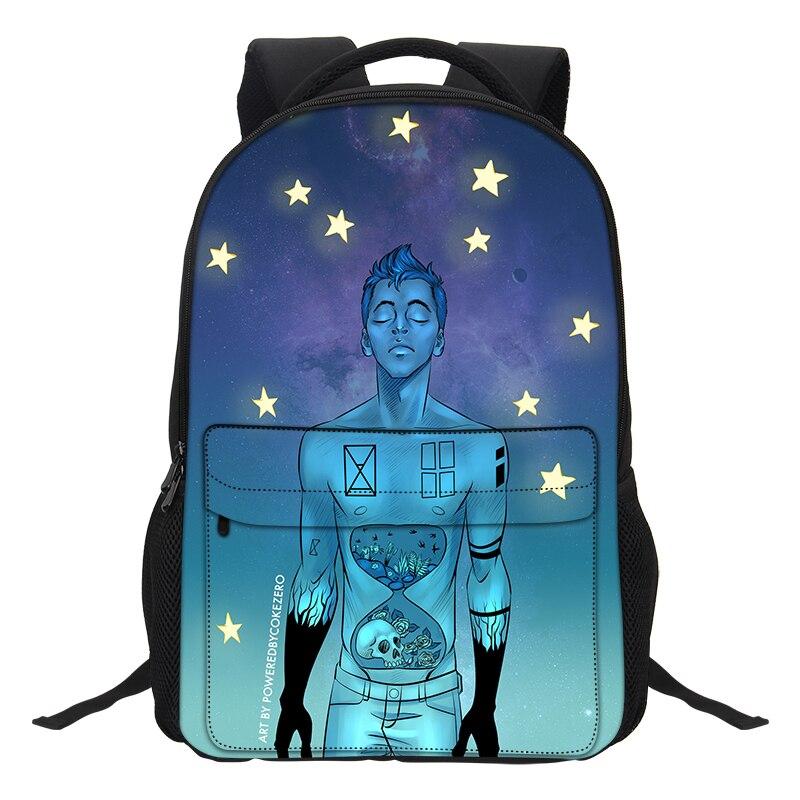 VEEVANV 2018 Twenty One Pilots Printing Bags Boys Causal Daypacks Men Fashion Laptop School Backpacks for Teenage Girls Mochila