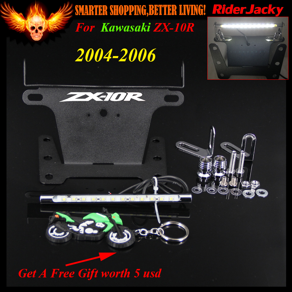Laser Engraved Logo Zx-10R Motorcycle Fender Eliminator LED Light Tidy Tail for Kawasaki Ninja Zx10R Zx-10R 2004 2005 2006 motorcycle fender eliminator led light tidy tail for honda cbr 600rr cbr600rr 2005 2006 cbr 1000rr cbr1000rr 2004 2005 2006 2007