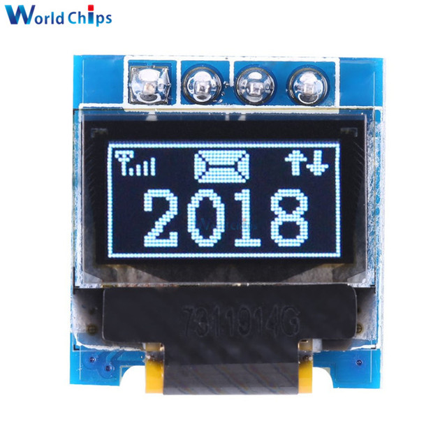 """diymore White 0.49 inch OLED Display Module 64x32 SSD1306 0.49"""" Screen I2C IIC Super Bright for Arduino AVR STM32"""