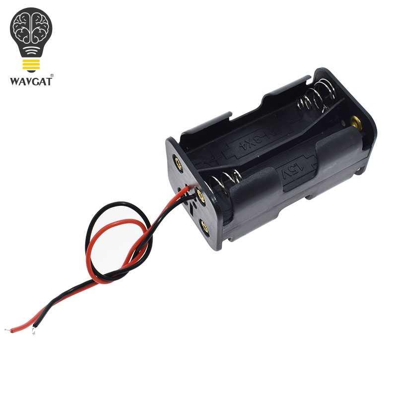 AA taille puissance batterie mallette de rangement support de la boîte conduit avec 1 2 3 4 6 fentes conteneur sac bricolage Standard Batteries charge Droship
