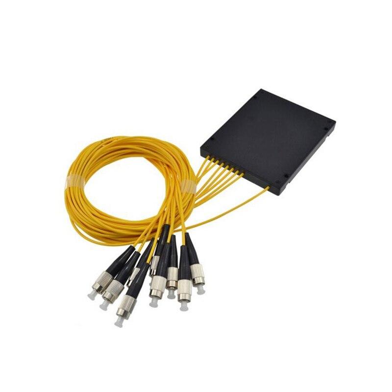 Fiber optic PLC1X8 fiber splitter FC/UPC PLC Splitter Module SM 1.5M ABS BOX