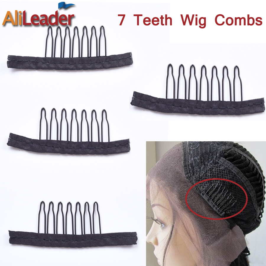 Tools & Accessories Humor 10-100pcs Useful Wigs Cap Accessories Hair Clips For Weaves Wig Combs Clips For Lace Hair 7 Thooth Convenient For Your Wig Caps