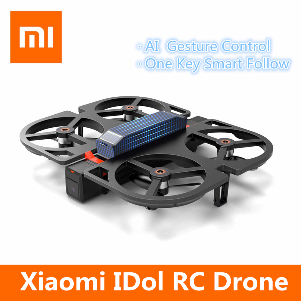 Xiaomi Youpin IDol Foldable GPS RC Drone AI Gesture Control Helicopter With FPV HD Camera 1080P Follow Mode Optical Flow Drone funsnap idol 2 4g rc drone foldable gps quadcopter with 120 pitch 1080p hd wifi fpv camera optical flow positioning gesture fz