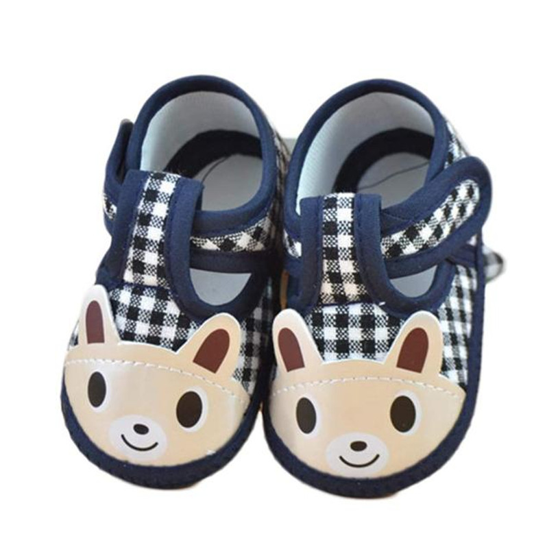 TELOTUNY newborn baby shoes first walkers plaid cartoon rabbit anti slip a801 26