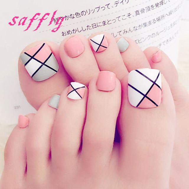 Free shipping Summer beautiful Varied tone mixing toenails color ...