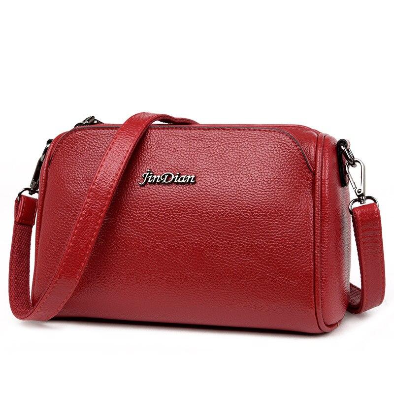 Soft Crossbody Bags For Women Pu Leather Handbags Designer Women Shoulder Bags Solid Women Messenger Bags